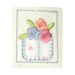 Iron On Patch Applique - Flower Pocket Patch