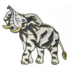 Iron On Patch Applique - Elephant WBG X Medium