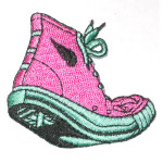 Iron On Patch Applique - Sneakers Pink