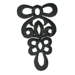 Iron On Patch Applique - Black Decorative 7158