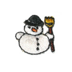 Iron On Patch Applique - Snowman Mini 10 Pack