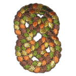 Iron On Patch Applique - Decorative Autumn Knot