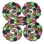 Iron On Patch Applique - Decorative Rope Fancy Swirls