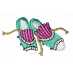 Iron On Patch Applique - Sports Cleats.
