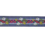 "Jacquard Ribbon 1 5/16"" Floral Stripe 10 Yards"