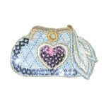 Iron On Patch Applique - Sequin Heart Purse