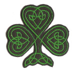 Iron On Patch Applique - Shamrock 7413