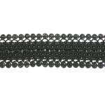 """Braid 1 3/4"""" Black Fancy Rayon Per Yard"""