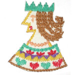 Iron On Patch Applique - Needlepoint Queen