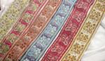 "Jacquard Ribbon 1 7/8"" Floral Paisley Design *Colors* Per Yard"