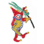 Iron On Patch Applique - Needlepoint Jester