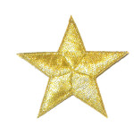 """Iron On Patch Applique - 2 3/8"""" Bordered Star  (60.3mm)"""