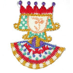 Iron On Patch Applique - Needlepoint King