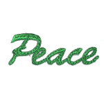 Iron On Applique - Peace script
