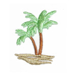 Iron On Patch Applique - Palm Tree Left