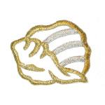 Iron On Patch Applique - Metallic Shell.,