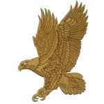 Iron On Patch Applique - Laser Cut Eagle