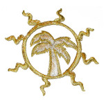 Iron On Patch Applique - Palm Tree in Sun