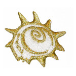 Iron On Patch Applique - Metallic Shell..