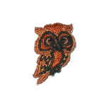 Iron On Patch Applique - Brown Owl