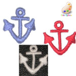 Iron On Patch Applique - Anchor Mini Red