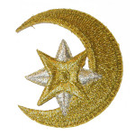 Iron On Patch Applique - Moon Star Metallics
