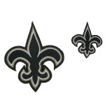 Iron On Patch Applique - Fleur De Lys Large