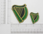 Iron On Patch Applique - Irish Harp - Two Sizes