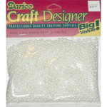 Beads 4mm Faux Pearl White 1500 piece pack