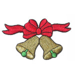 Iron On Patch Applique - Bells