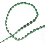 Fused Flat Backed Beads 6mm Emerald 18 Yards