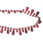 Fused Beads Teardrop 15mm 10 Yard Roll Red