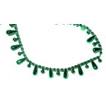 Fused Beads Teardrop 15mm 10 Yard Roll Emerald