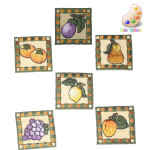 Iron On Patch Applique - Country Fruit Bordered Patch