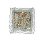 "Fabric Panel Applique  - Beaded & Embroidered 5"" square"