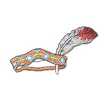 Iron On Patch Applique - Native American Head Dress