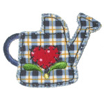 Iron On Patch Applique - Gingham Watering Can