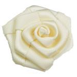 "Ribbon Rose Flat  1 1/2"" 10 Pack - IVORY"