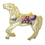 Iron On Patch Applique - Horse White