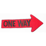 Iron On Patch Applique One Way Sign