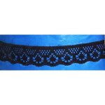 "Flat Lace 1/2"" Black 50 Yards"