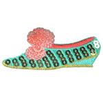 Iron On Patch Applique - Sequin Fancy Shoe