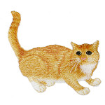 Iron On Patch Applique Ginger Tabby Cat