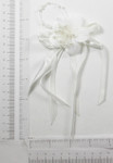 Bridal Applique - Satin Flower and Bow White