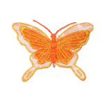 Iron On Patch Applique - Butterfly sheer ORANGE