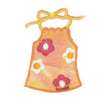 Iron On Patch Applique - Bikini Sundress Orange
