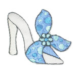 Iron On Patch Applique - Blue & White Shoe