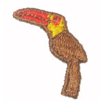 Sew On Applique - Brown Toucan 24 Pack