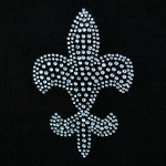 Iron On Patch Applique - Crystal Fleur De Lys