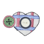 Iron On Patch Applique - Sewing Heart